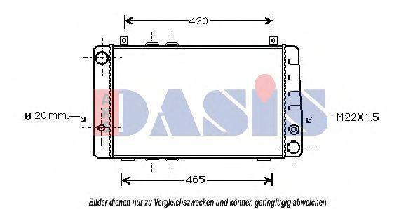 Радиатор, охлаждение двигателя AKS DASIS 490020N