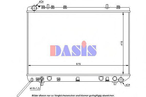 Радиатор, охлаждение двигателя AKS DASIS 510004N