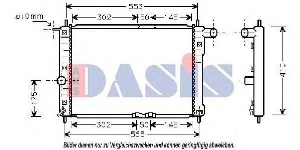 Радиатор, охлаждение двигателя AKS DASIS 510005N