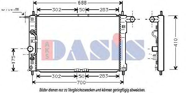Радиатор, охлаждение двигателя AKS DASIS 510006N