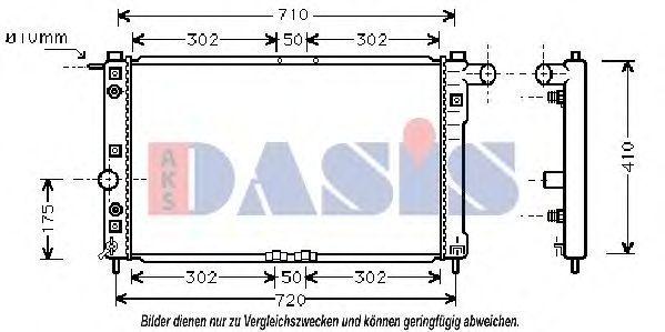Радиатор, охлаждение двигателя AKS DASIS 510008N