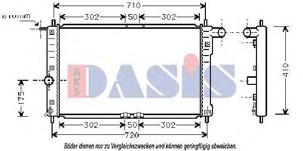 Радиатор, охлаждение двигателя AKS DASIS 510009N