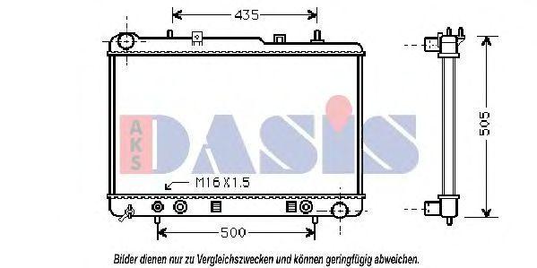 Радиатор, охлаждение двигателя AKS DASIS 510012N