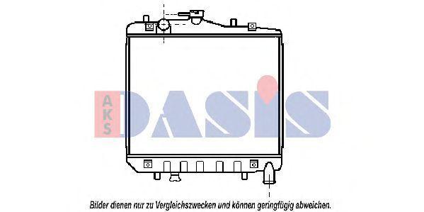 Радиатор, охлаждение двигателя AKS DASIS 510013N