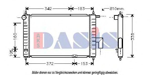 Радиатор, охлаждение двигателя AKS DASIS 510014N