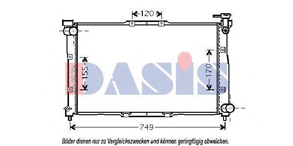 Радиатор, охлаждение двигателя AKS DASIS 510015N
