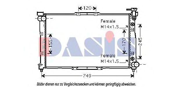 Радиатор, охлаждение двигателя AKS DASIS 510016N