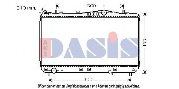 Радиатор, охлаждение двигателя AKS DASIS 510019N