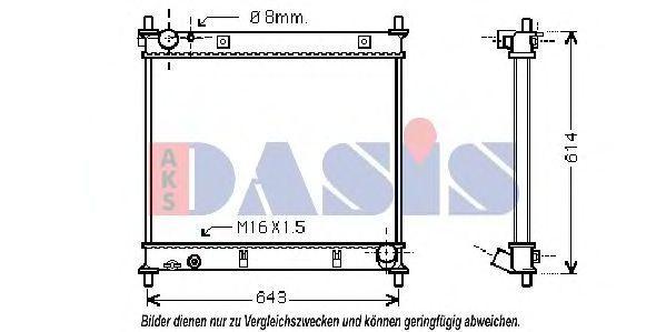 Радиатор, охлаждение двигателя AKS DASIS 510024N