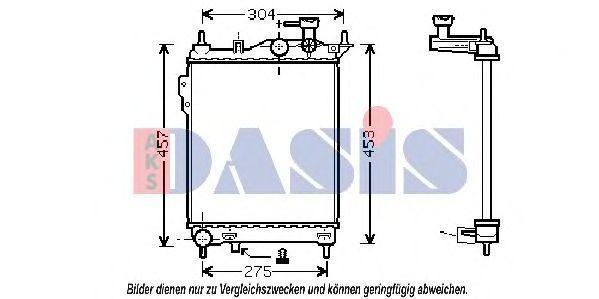 Радиатор, охлаждение двигателя AKS DASIS 510026N