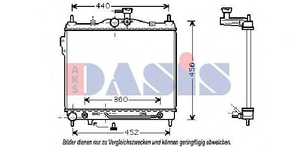 Радиатор, охлаждение двигателя AKS DASIS 510027N