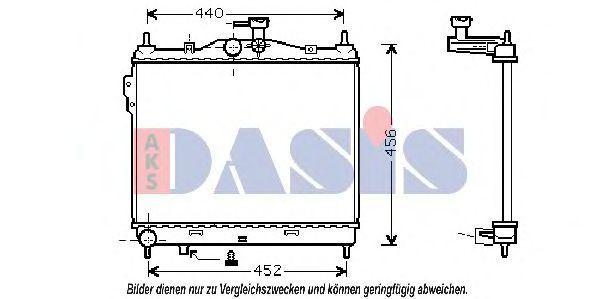 Радиатор, охлаждение двигателя AKS DASIS 510028N