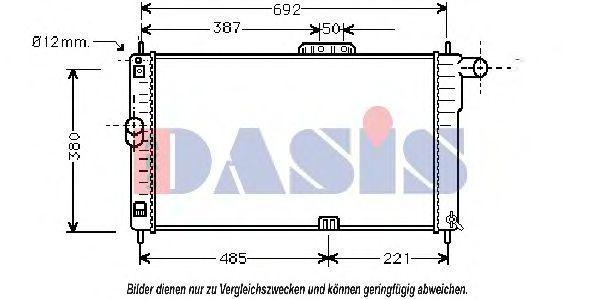 Радиатор, охлаждение двигателя AKS DASIS 510030N