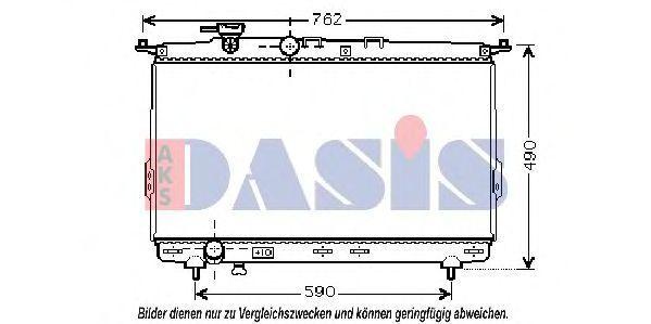 Радиатор, охлаждение двигателя AKS DASIS 510033N