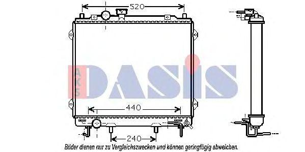 Радиатор, охлаждение двигателя AKS DASIS 510039N