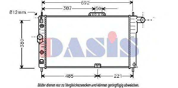 Радиатор, охлаждение двигателя AKS DASIS 510040N
