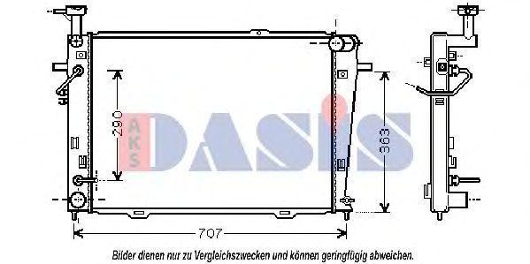 Радиатор, охлаждение двигателя AKS DASIS 510041N