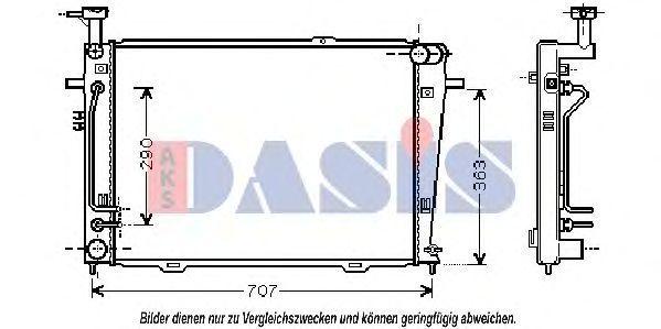 Радиатор, охлаждение двигателя AKS DASIS 510043N