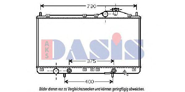 Радиатор, охлаждение двигателя AKS DASIS 510044N