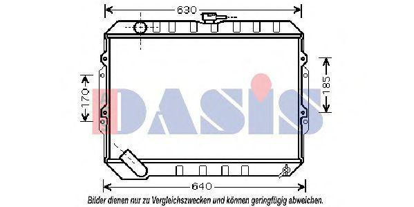 Радиатор, охлаждение двигателя AKS DASIS 510046N