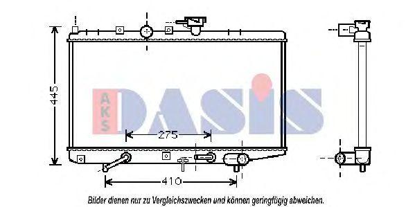 Радиатор, охлаждение двигателя AKS DASIS 510048N