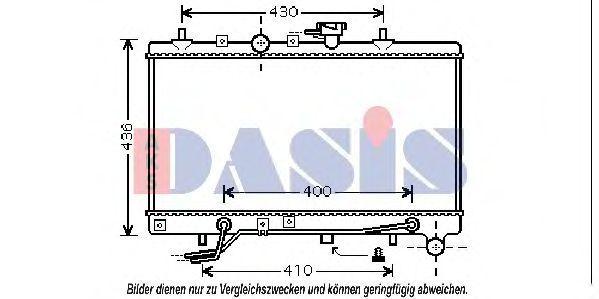 Радиатор, охлаждение двигателя AKS DASIS 510049N