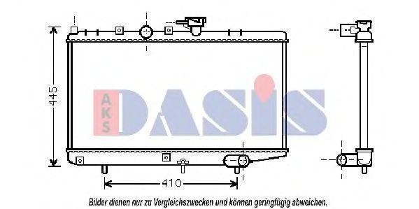 Радиатор, охлаждение двигателя AKS DASIS 510054N