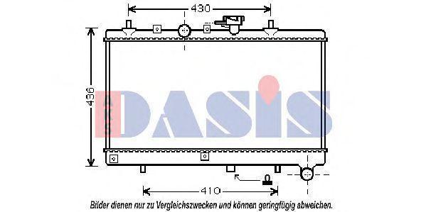 Радиатор, охлаждение двигателя AKS DASIS 510056N