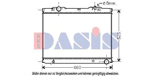 Радиатор, охлаждение двигателя AKS DASIS 510057N