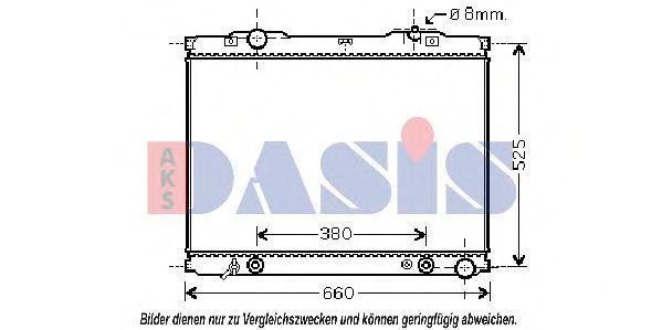 Радиатор, охлаждение двигателя AKS DASIS 510058N