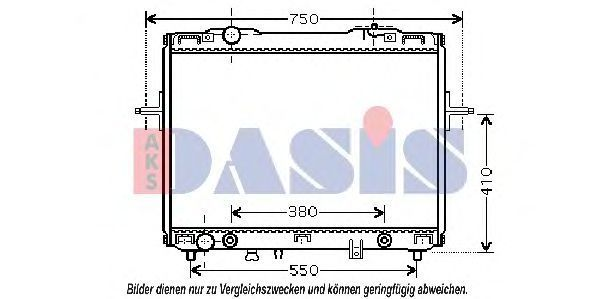Радиатор, охлаждение двигателя AKS DASIS 510059N
