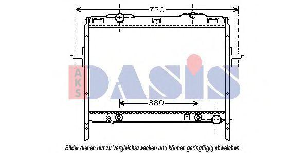 Радиатор, охлаждение двигателя AKS DASIS 510061N