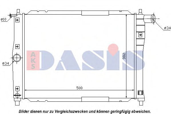 Радиатор, охлаждение двигателя AKS DASIS 510065N