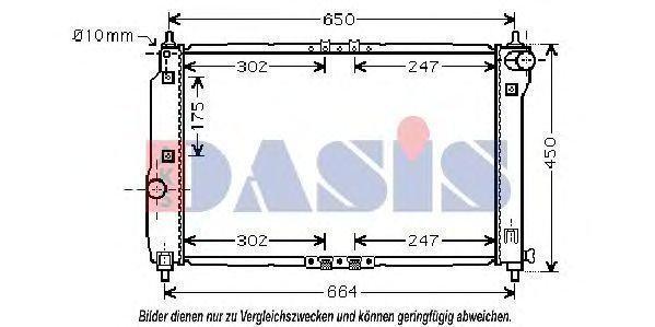 Радиатор, охлаждение двигателя AKS DASIS 510066N