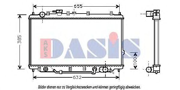 Радиатор, охлаждение двигателя AKS DASIS 510070N
