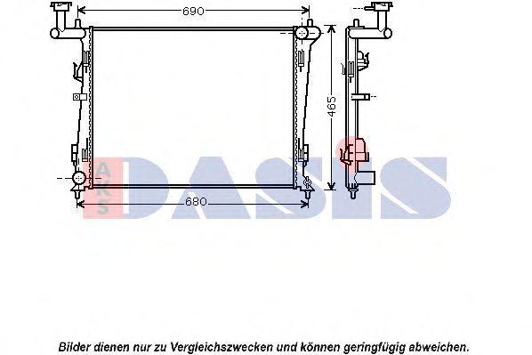Радиатор, охлаждение двигателя AKS DASIS 510071N