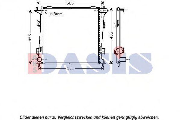 Радиатор, охлаждение двигателя AKS DASIS 510072N