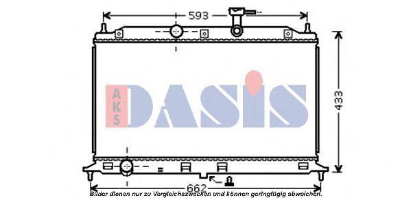 Радиатор, охлаждение двигателя AKS DASIS 510074N