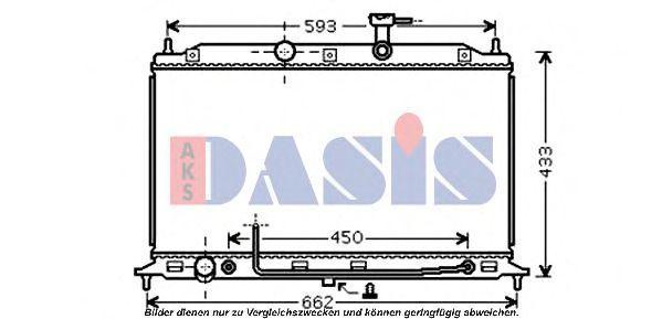 Радиатор, охлаждение двигателя AKS DASIS 510075N