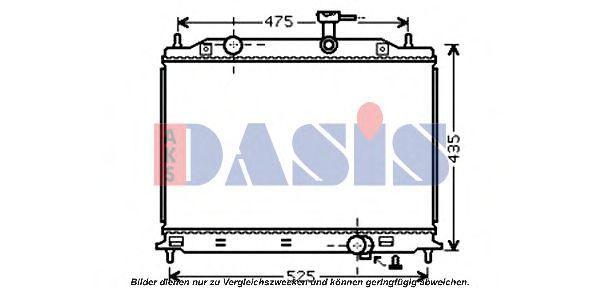 Радиатор, охлаждение двигателя AKS DASIS 510076N