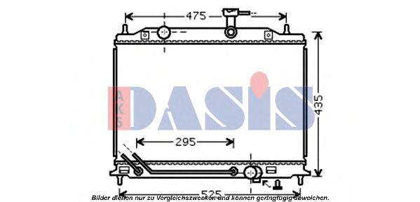 Радиатор, охлаждение двигателя AKS DASIS 510077N