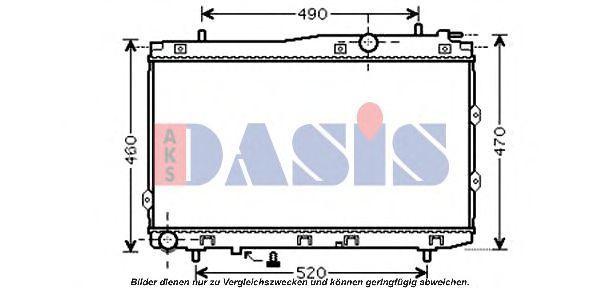 Радиатор, охлаждение двигателя AKS DASIS 510083N