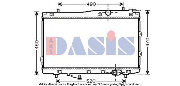 Радиатор, охлаждение двигателя AKS DASIS 510086N