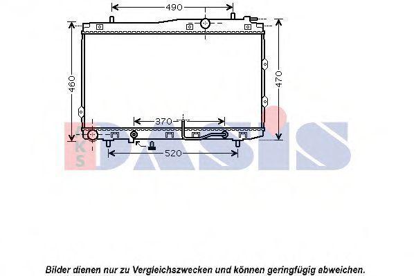 Радиатор, охлаждение двигателя AKS DASIS 510087N