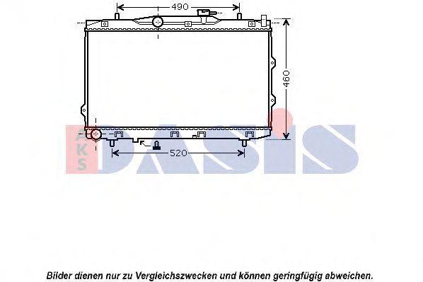 Радиатор, охлаждение двигателя AKS DASIS 510094N