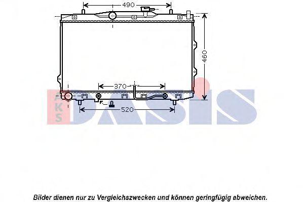 Радиатор, охлаждение двигателя AKS DASIS 510095N