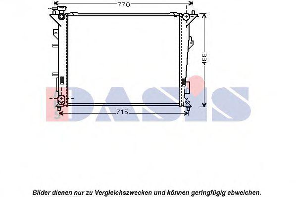 Радиатор, охлаждение двигателя AKS DASIS 510098N
