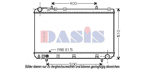 Радиатор, охлаждение двигателя AKS DASIS 510099N