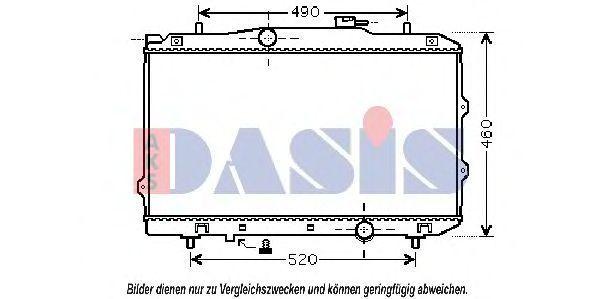 Радиатор, охлаждение двигателя AKS DASIS 510106N