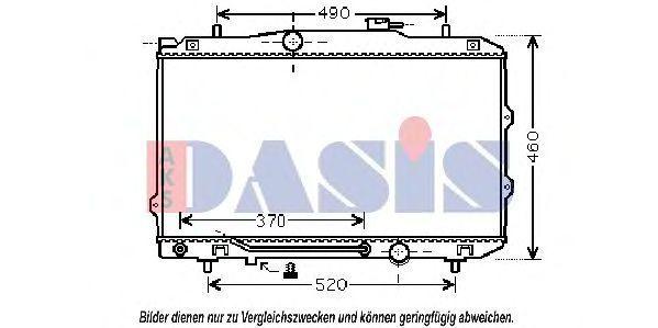 Радиатор, охлаждение двигателя AKS DASIS 510107N